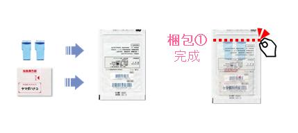 新型コロナウイルス抗体検査 郵送梱包 手順1